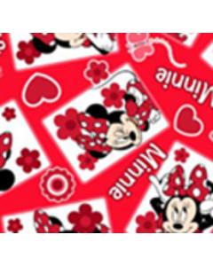 Acolchado Disney Mimi Cuadros Rojo