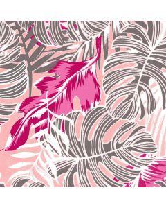 Lino Estampado Tropical Rosa Pastel
