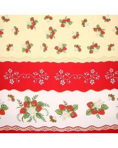 Mantel Roco Fresas Rojo