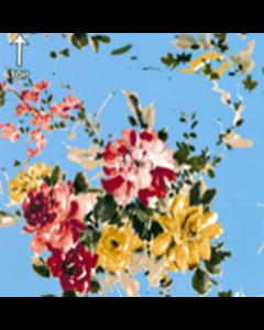 Organza Digital Flor Chica Azul Cielo