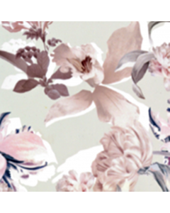 Organza Digital Flor Extragrande Verde Menta