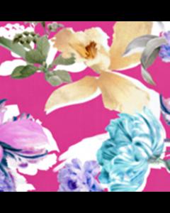 Organza Digital Flor Extragrande Rosa Media