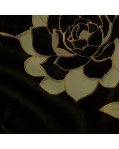 Caja de Plastico Contact Estampado Rosas Negro con 6 rollos