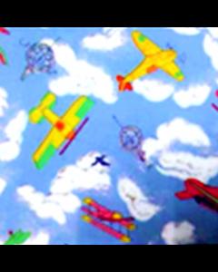 Caja de Plastico Contact Estampado Avionetas Azul Cielo con 6 rollos