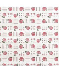 Caja de Plastico Contact Estampado Rosales Rosa Pastel con 6 rollos