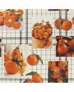 Plastico Fiestamesa Naranjas Blanco