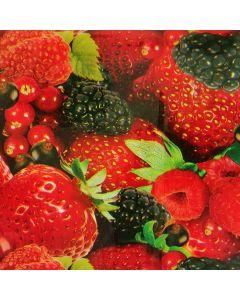 Plastico Cristamesa Frutos Rojos Rojo