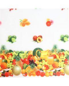 Plastico Cristamesa Fiesta De Frutas Blanco