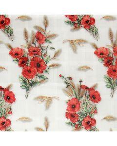 Plastico Cristamesa Amapola Rosa Coral
