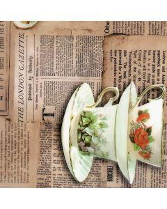 Plastico Cristamesa Periodico Cafe Beige
