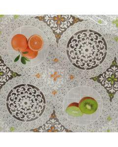 Plastico Cristamesa Naranjas Blanco