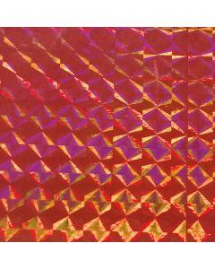 Caja de Plastico Contact Holograma Liso Rojo con 6 rollos
