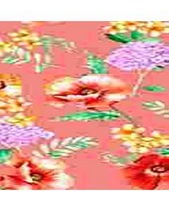 Rayon Chalis Flor Grande Rosa Palo