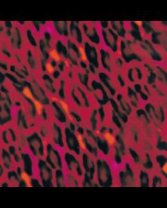 Rayon Lino Estampado Animal Rojo