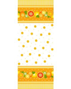 Cortina Tergal Zurich Naranjas Amarillo Mango