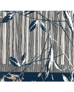 Royal Estampada 1.10 Cenefa Azul Marino