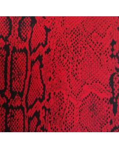 Shiffon Yoryu Estampado Víbora Rojo