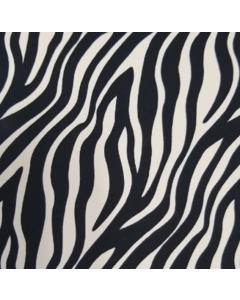 Shiffon Yoryu Estampado Zebra Negro