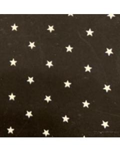 Shiffon Crepe Estrellas Negro