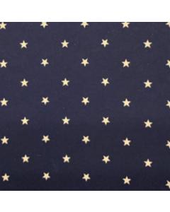 Shiffon Crepe Estrellas Azul Marino