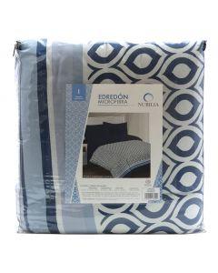Edredón Individual Loly color Azul Marino