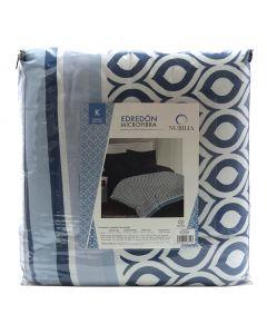 Edredón King Size Loly color Azul Marino