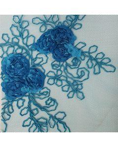 Fiesta Vogue Flor Grande Azul Turquesa