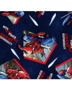 Decoracion Canasta Disney Spiderman Azul Marino