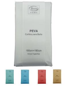 Plastico Cortina Para Baño Liso Café Camel